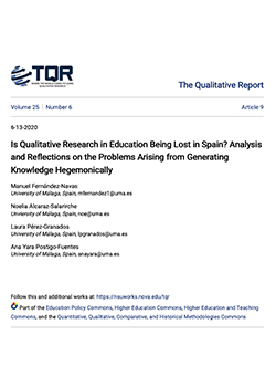 Is Qualitative Research in Education Being Lost in Spain? Analysis and Reflections on the Problems Arising from Generating Knowledge Hegemonically